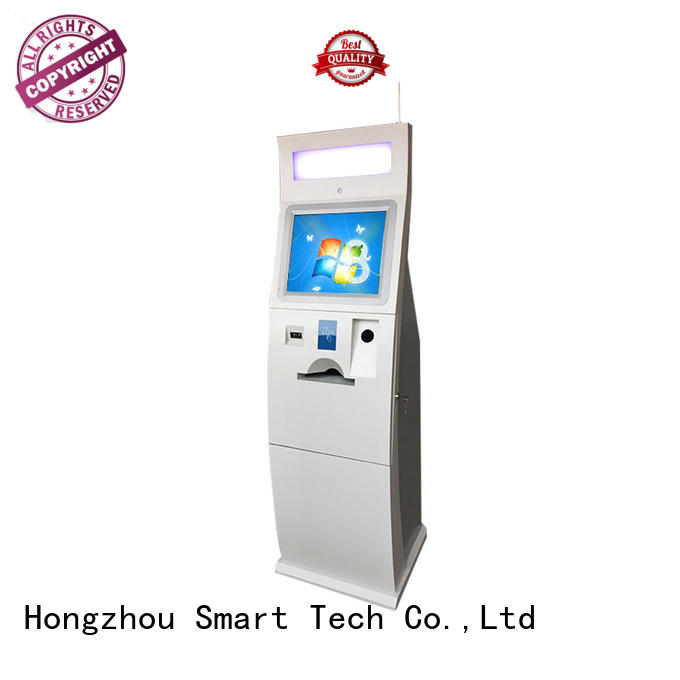 dual screen bill payment kiosk acceptor in bank