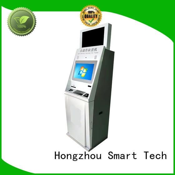 Self-service Kiosk for ticketing printing with capacitive touch screen for bus station