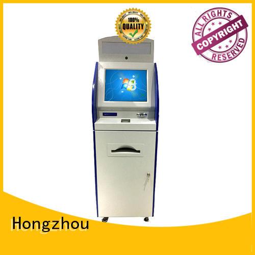 information kiosk machine with qr code scanning in bar Hongzhou