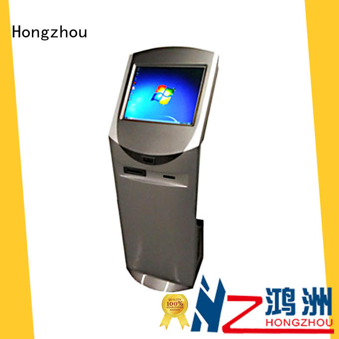 Hongzhou floor standing interactive information kiosk manufacturer for sale