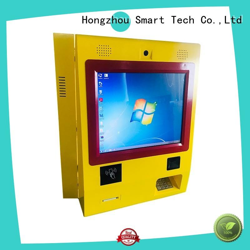 Wall mounted payment kiosk with RFID, metal keyboard and Windows system
