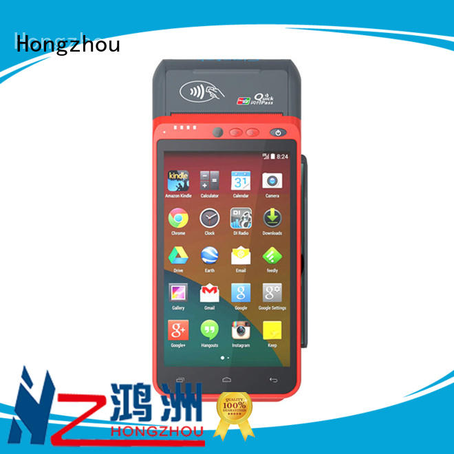 Hongzhou all in one mobile pos with barcode scanner in library