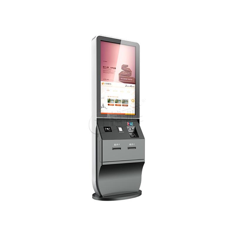 LED inquiry hotel check in kiosk with thermal printer