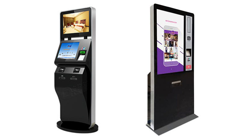 Hongzhou touch screen self service ticketing kiosk with printer for sale-2