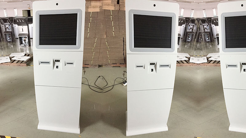 Hongzhou indoor interactive information kiosk with printer in airport-6