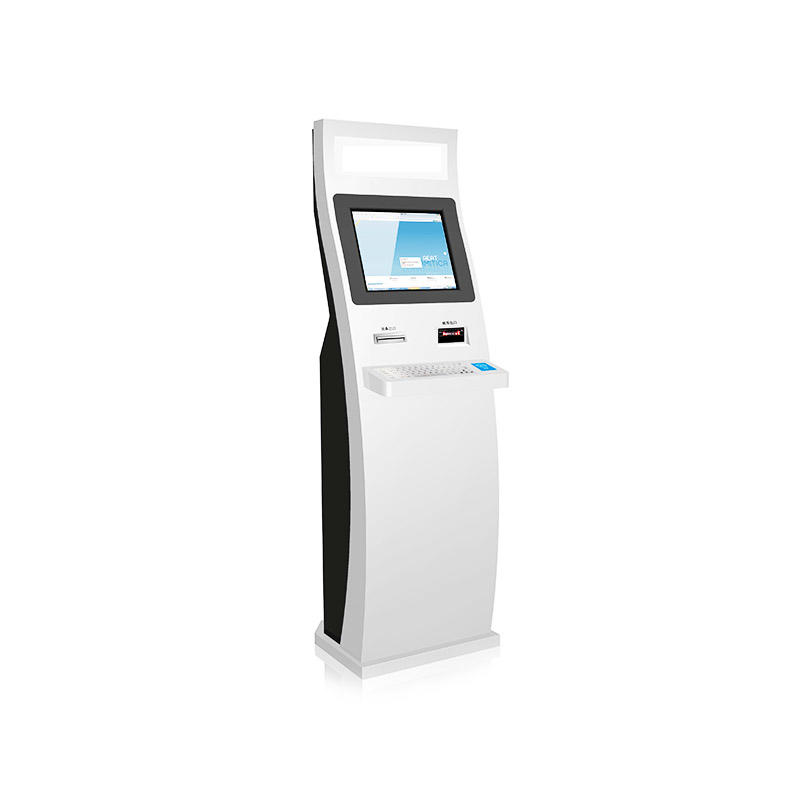 Library self checkout self check in kiosk with RFID and ID card reader