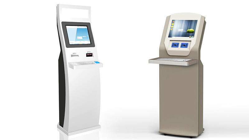 Hongzhou library self checkout kiosk for busniess for books