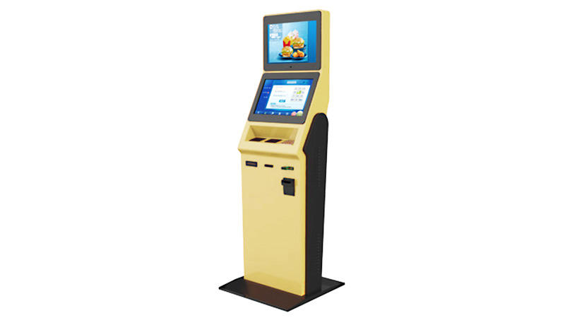 Self-service check in kiosk with bar code reader in hotel