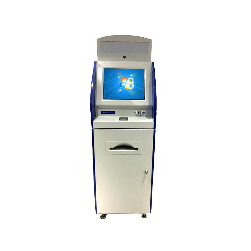 Beautiful appearance information kiosk with A4 printer and LED sign