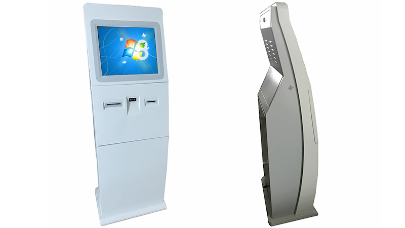 Hongzhou indoor interactive information kiosk with printer in airport-4