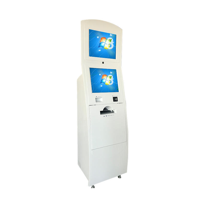 Self service landing visa kiosk with A4 printer Receipt printer QR code scanning Camera and 4G Wireless routing in Airport