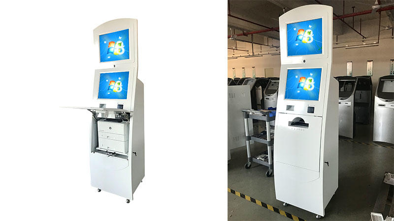 Hongzhou information kiosk machine receipt in bar