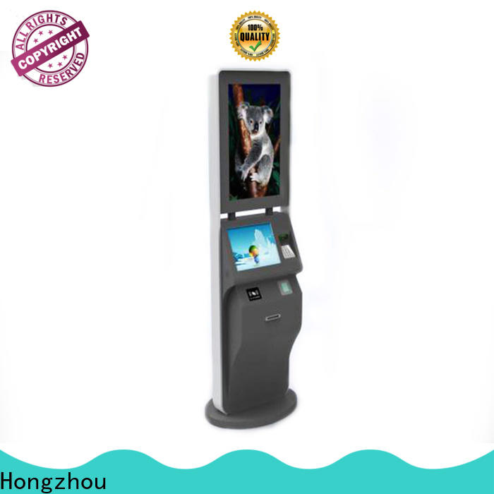 Hongzhou capacitive ticketing kiosk with camera in cinema