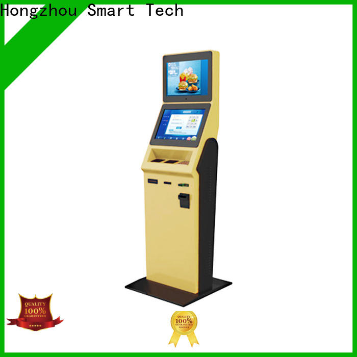 Hongzhou multi function hotel self check in machine with card reader for sale