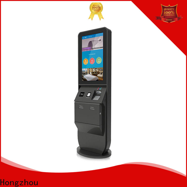 Hongzhou hotel self check in kiosk with barcode scanner for sale