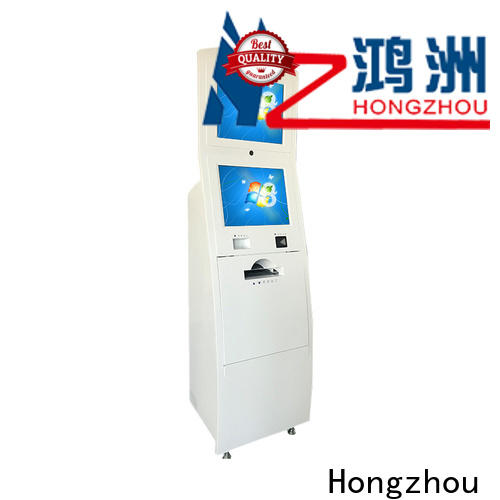 high quality touch screen information kiosk receipt in bar