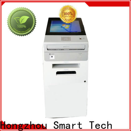 Hongzhou interactive information kiosk with printer in bar