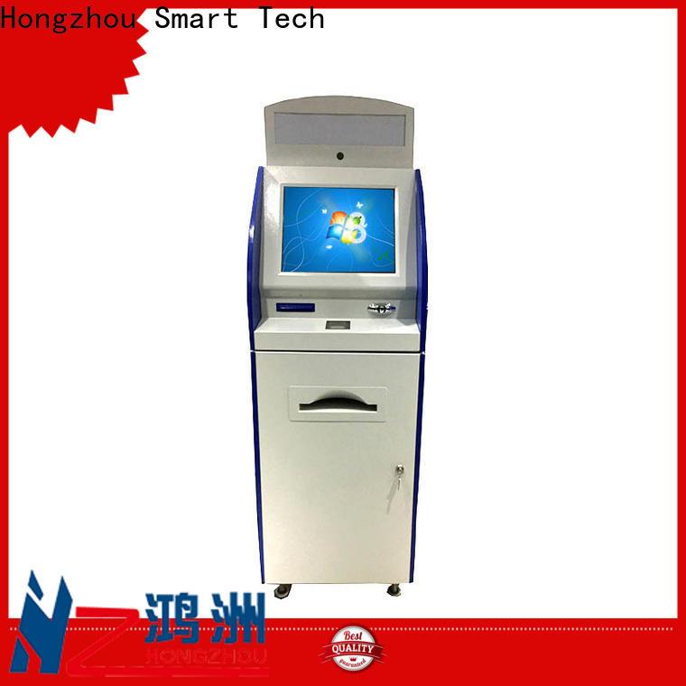 Hongzhou multimedia information kiosk machine with printer in airport