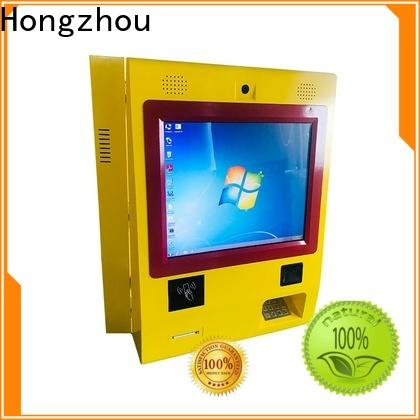 metal automated payment kiosk with laser printer for sale