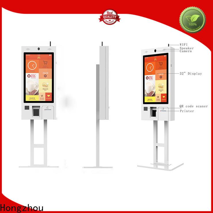 Hongzhou good selling self service kiosk factory for restaurant