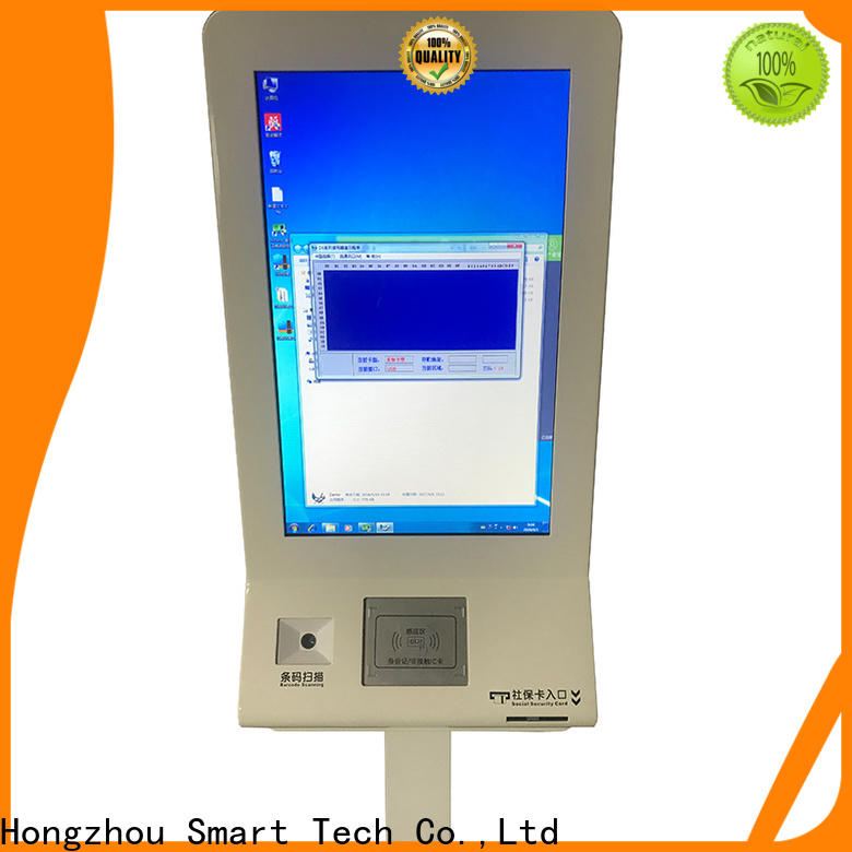 touch screen hospital kiosk operated in hospital