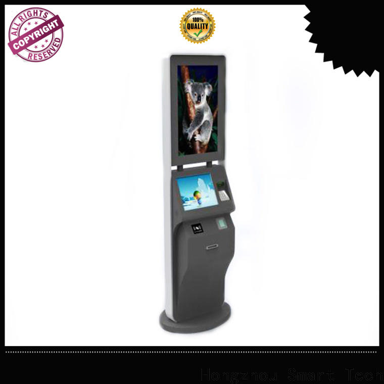 Hongzhou best ticket kiosk machine with camera on bus station