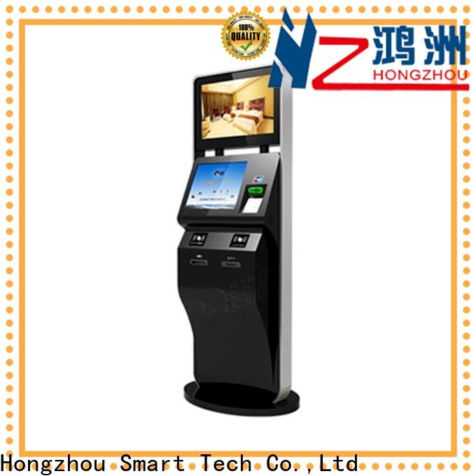 Hongzhou capacitive self service ticketing kiosk with camera for sale