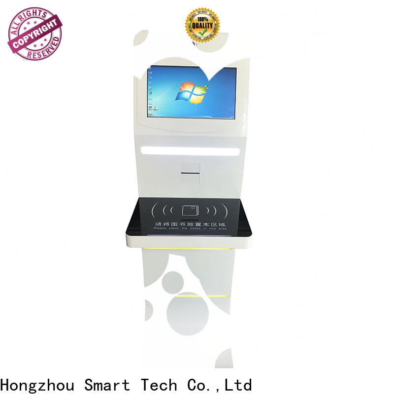 Hongzhou professional library self checkout kiosk supplier in library