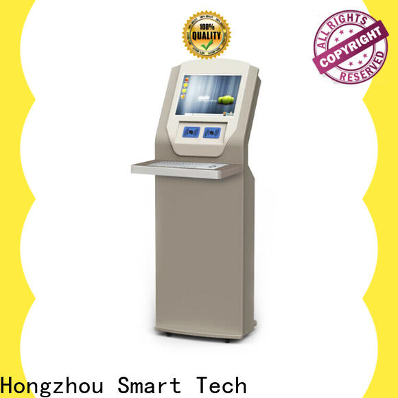 Hongzhou library self checkout kiosk supplier for sale