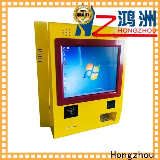 Hongzhou dual screen pay kiosk dispenser in hotel