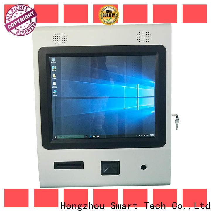 Hongzhou multimedia digital information kiosk with qr code scanning in bar