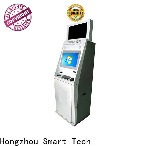 Hongzhou best self service ticketing kiosk with printer in cinema