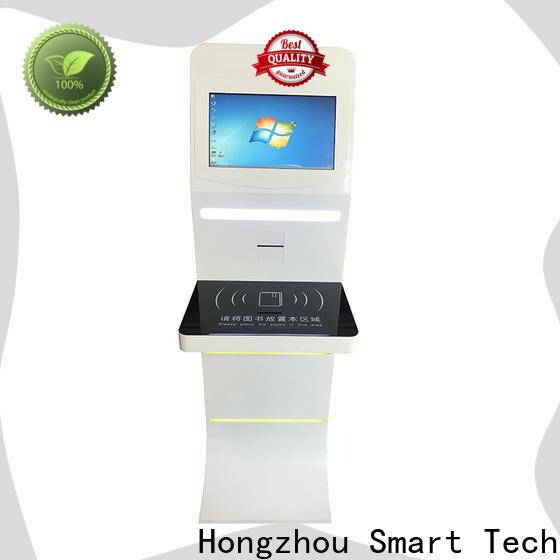Hongzhou oem library self checkout kiosk for busniess for books