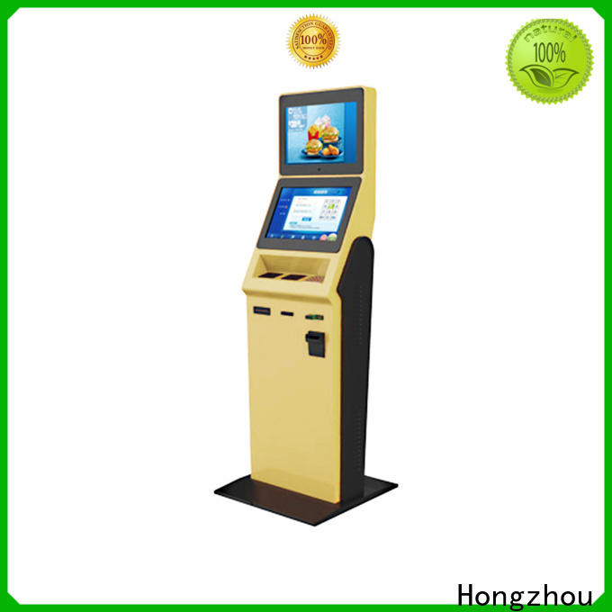 Hongzhou hotel self check in machine with card reader in hotel