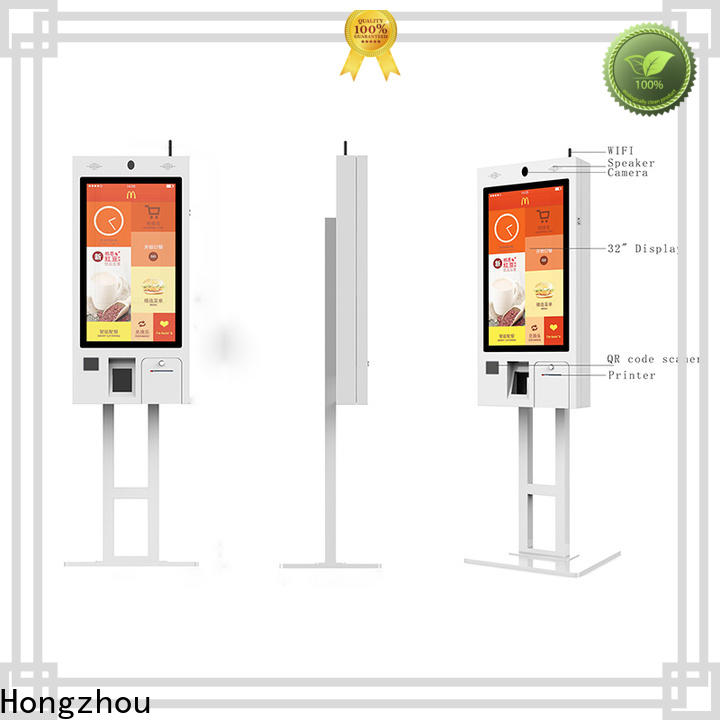 Hongzhou factory price self service kiosk with pos terminal for restaurant