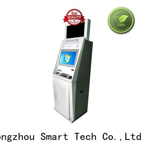 Hongzhou capacitive self service ticketing kiosk company for sale
