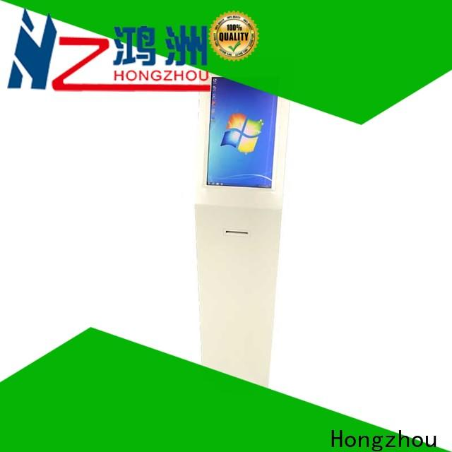 Hongzhou government interactive information kiosk with printer in bar