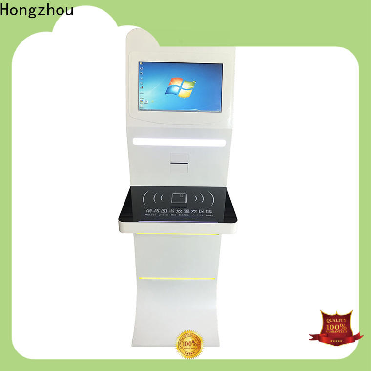 Hongzhou library self checkout kiosk supplier in library
