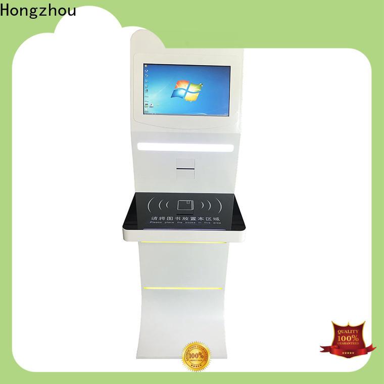 Hongzhou library self checkout kiosk supplier in library