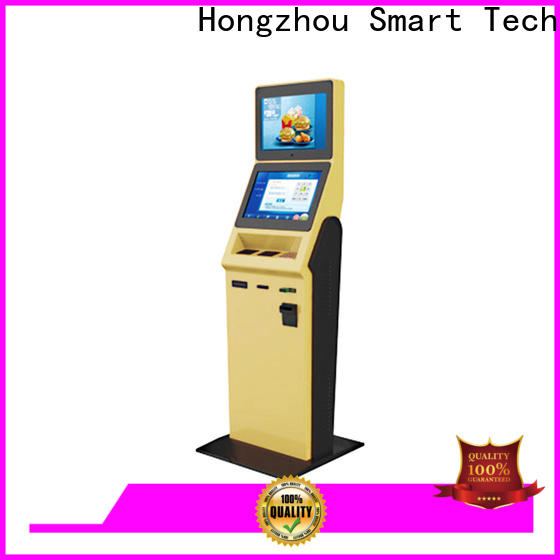 convenient hotel self check in kiosk with barcode scanner in hotel