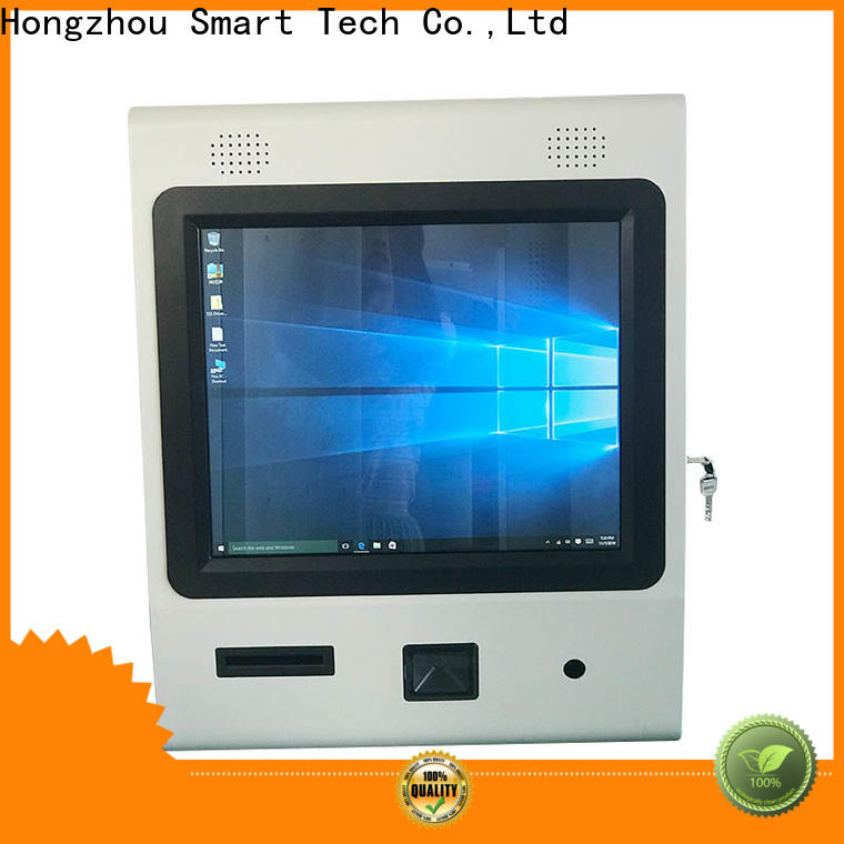 high quality interactive information kiosk with printer in bar