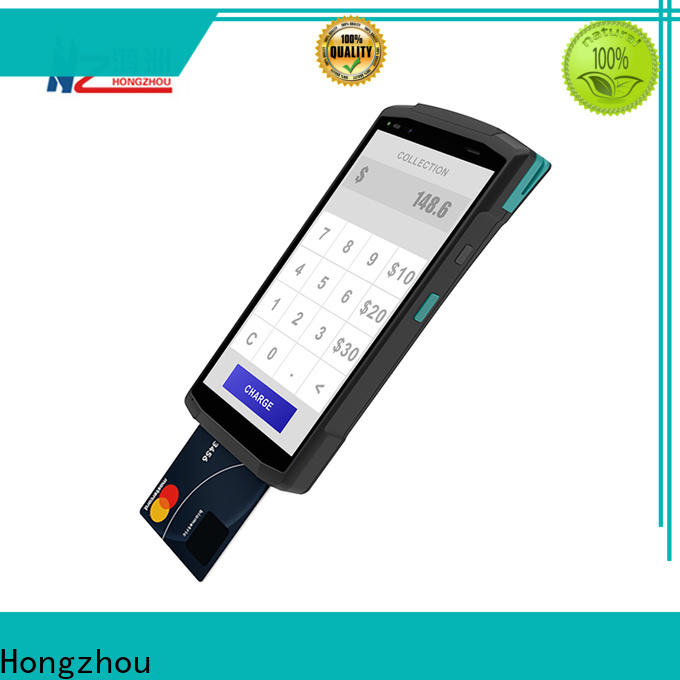 high speed mobile pos machine with card reader in hotel