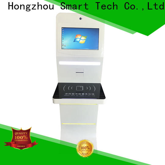 Hongzhou library information kiosk with id card reader for sale