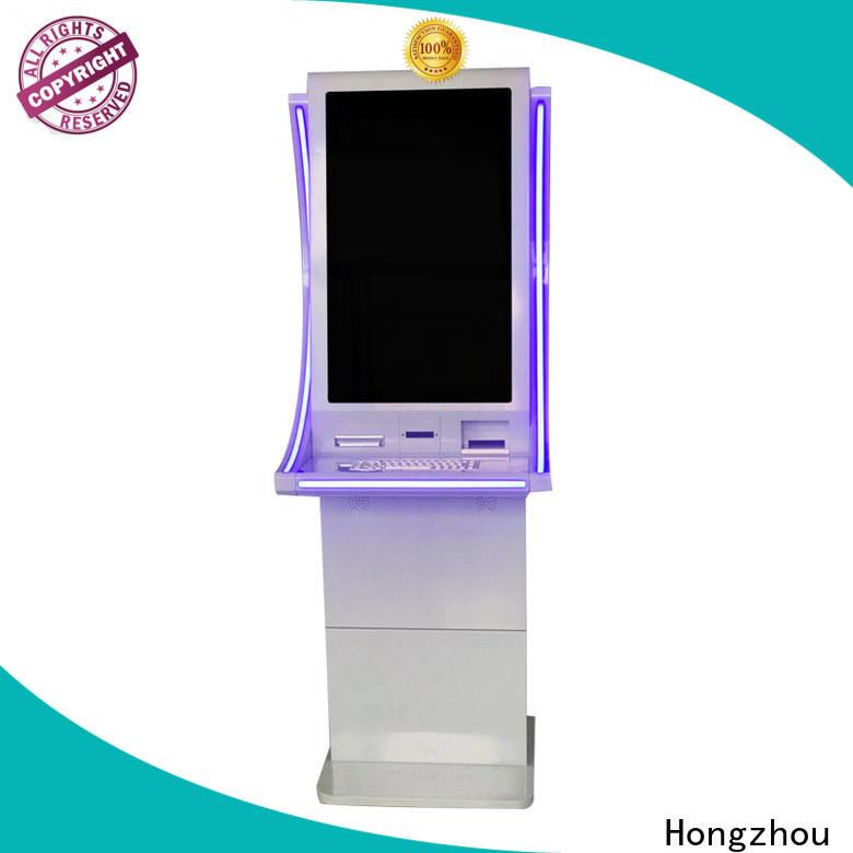 Hongzhou metal payment kiosk factory in bank