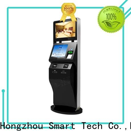 Hongzhou touch screen self service ticketing kiosk with printer for sale