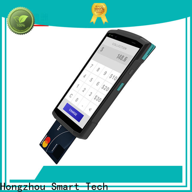 latest smart pos terminal with barcode scanner in library