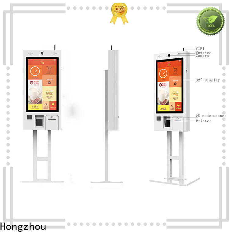 fast delivery self service kiosk with speaker for business