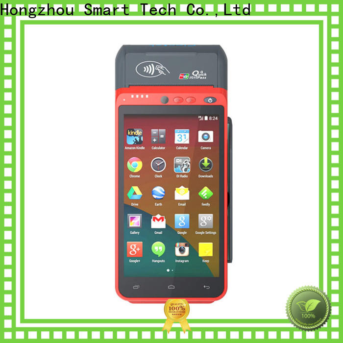 Hongzhou high speed portable pos with card reader in hospital