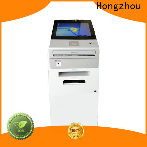 Hongzhou floor standing information kiosk machine factory in bar