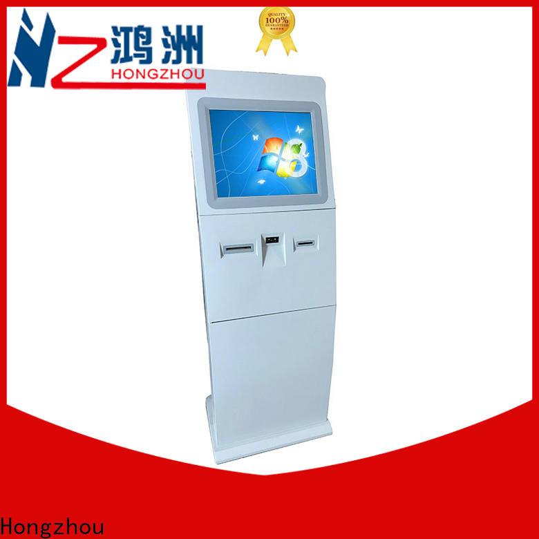 Hongzhou information kiosk machine receipt in airport
